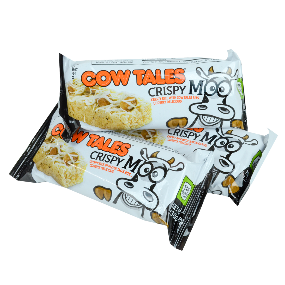 SNACK TIME! Cow Tales crispy treats for parties, road trips, game day snacks!