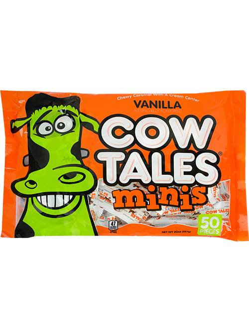 20oz Monster Halloween Bag of Vanilla Cow Tales Minis