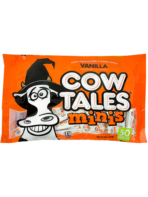 20oz Wizard Halloween Bag of Vanilla Cow Tales Minis