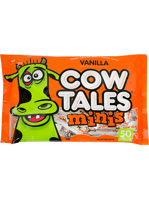 20oz Zombie Halloween Bag of Vanilla Cow Tales Minis
