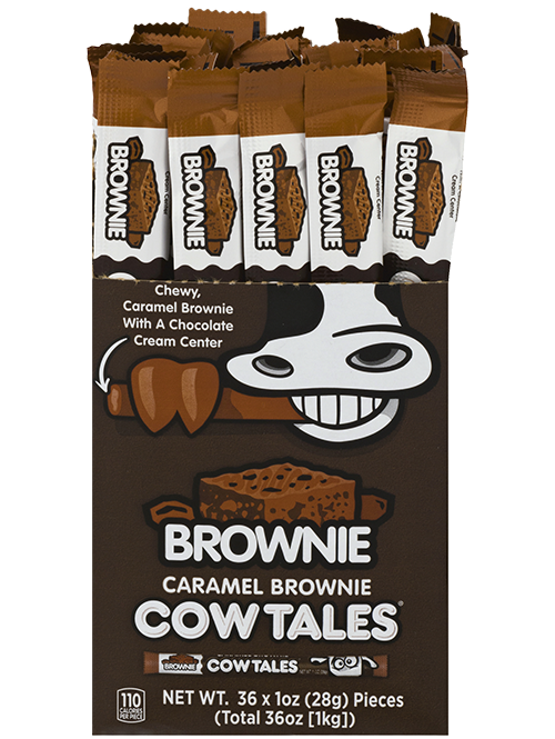 Caramel Brownie Cow Tales 36ct. box of 1oz. sticks