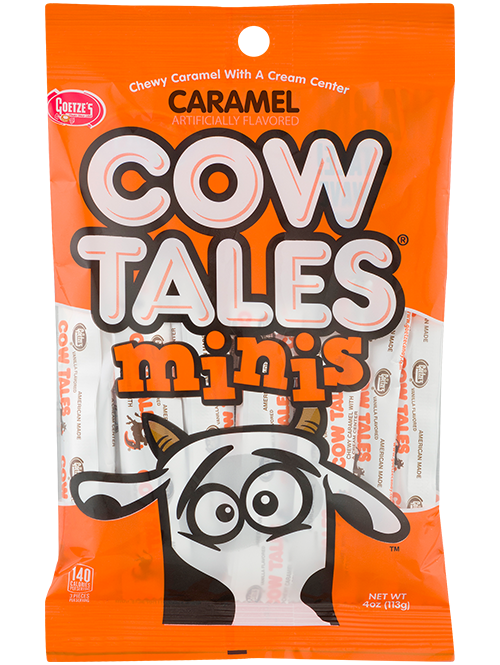 Original Caramel Cow Tales Minis 4oz. Peg Bag