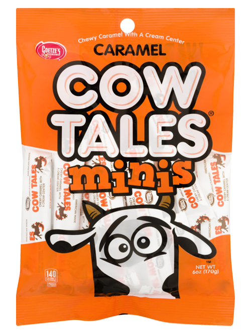 Original Caramel Cow Tales Minis 6oz. peg bag